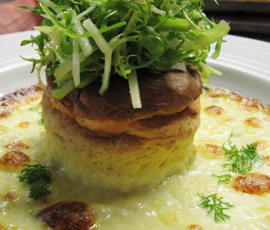 Pickhill, UK: Twice Baked Cheese Souffle