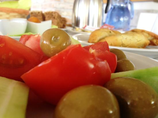 Olives from Rovies village as a delicious recipe of Souris Hotel greek breakfast