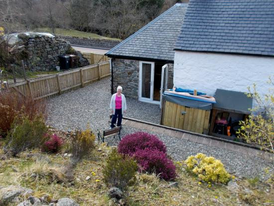 Strathyre, UK: Back garden
