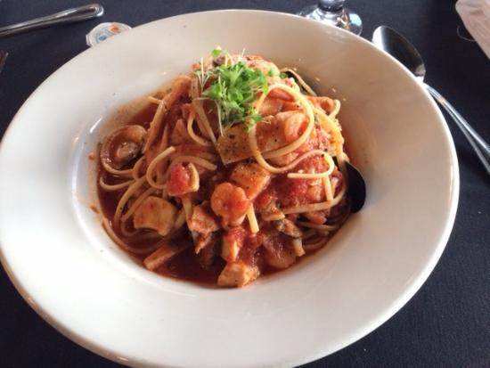 Peppercorns: This is the seafood linguine. Good portion size. Very tasty.