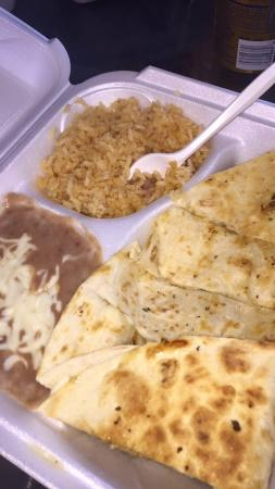 Alegria Tacos : Hole on the wall, there is barely a place to sit down and it takes a while for the food. But the
