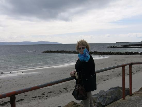 Salthill Beaches: Galway Bay and the Hills of Clare in the background.