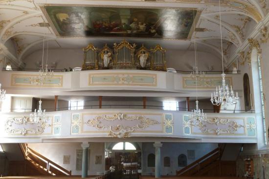 Scheidegg, Nemecko: Doppelempore mit Orgel
