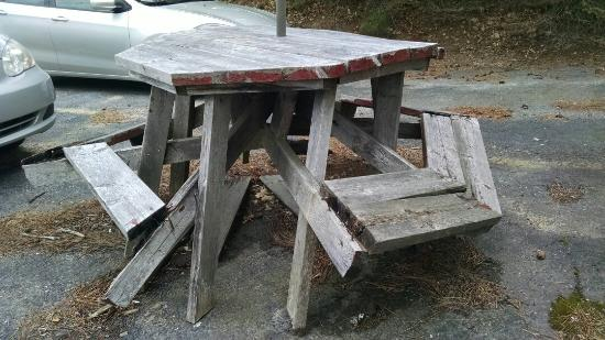 Baldwinville, MA : Dangerous tables!