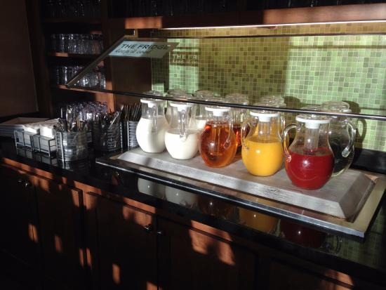 Englewood, CO: Breakfast-beverage choices (coffee in another photo)