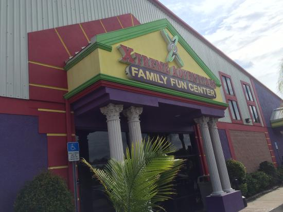 Lutz, FL: The exterior of Xtreme Adventures Family Fun Center.