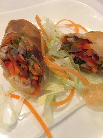 Great Neck, NY: Duck spring roll.