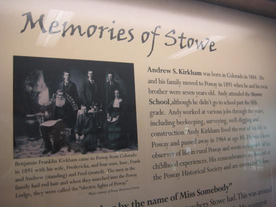 "Poway, CA: Display features ""Memories of Stowe"""
