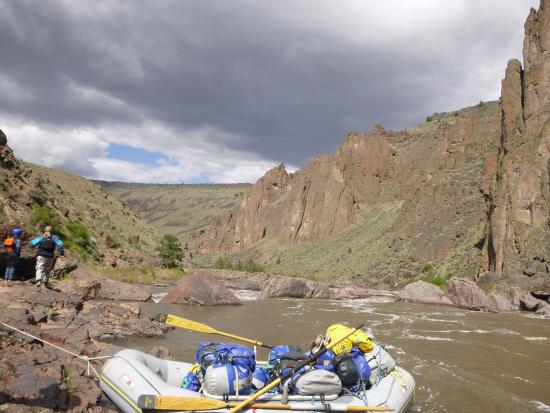 Lemhi, ID: Scouting the rapids