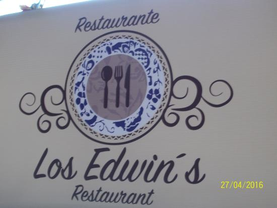"Nelvis: new location sign with new name ""restaurante Los Edwin's"