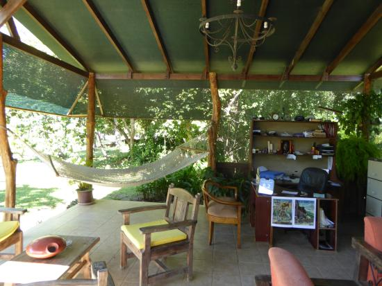 Rancho Curubande' Lodge: The reception area