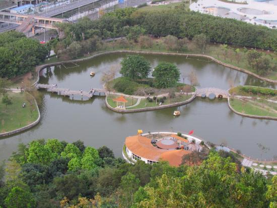 Humen Park: Lake and boating in park