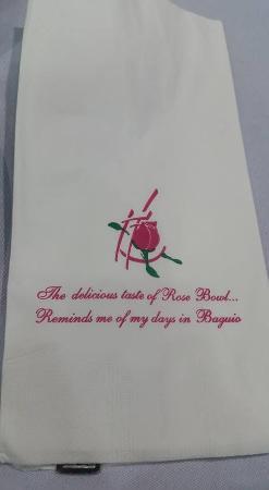 Rose Bowl: table napkin