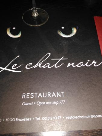 Lovely meal at le chat noir.