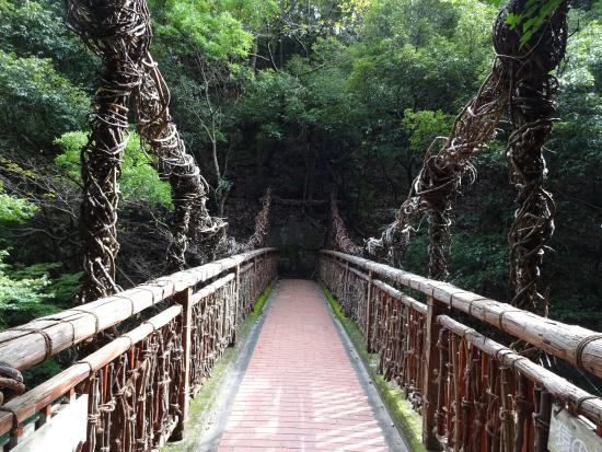 Kobe, Giappone: un joli pont on ne le traverse pas pour monter au sommet mais on passe a coter.