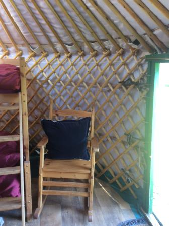 Oswestry, UK: Rocking chair in Nanny Iris Yurt