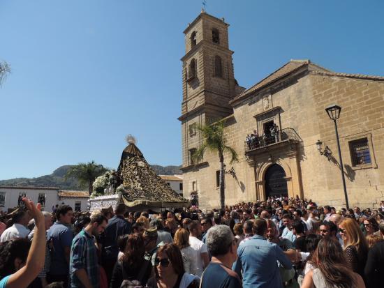 Alora, Espanha: Despedía en la Plaza Baja