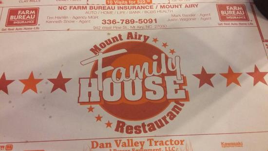 Mount Airy Family House Restaurant