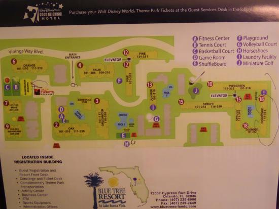 Blue Tree Resort at Lake Buena Vista: map of the resort