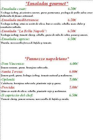 La Bella Napoli: Carta