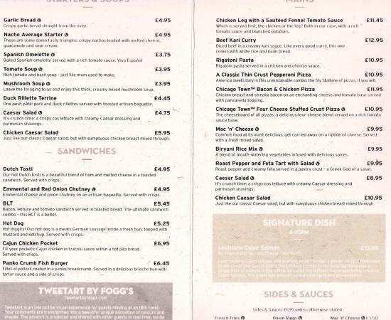 Ibis Heathrow Restaurant Menu