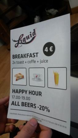 H2ostel: Завтрак за 4 евро