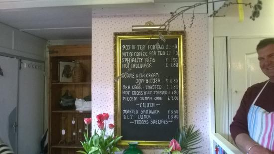 Badby, UK: the menu