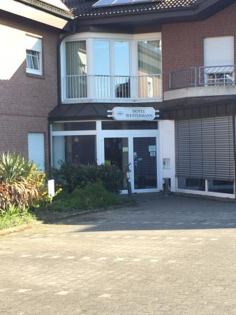 Oelde, Germany: Entrance to Hotel Westermann