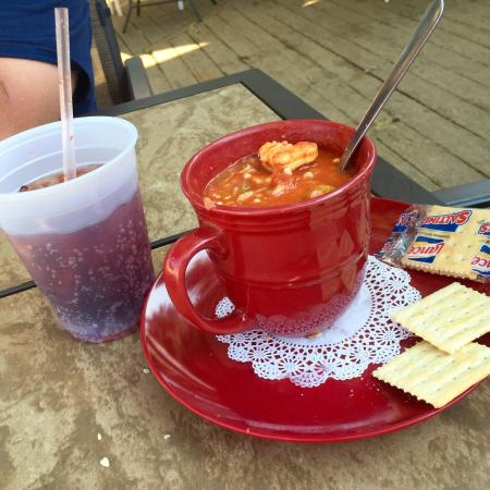 Port Royal, SC: Cup of shrimp gumbo