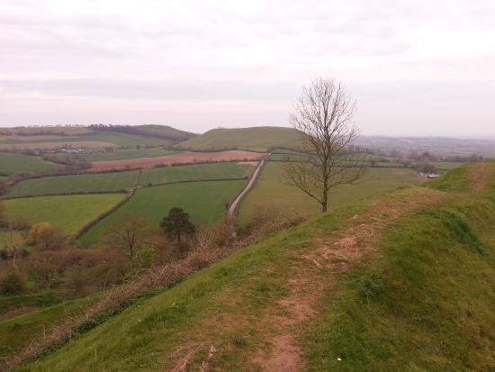 South Cadbury, UK: La vista dalla cima