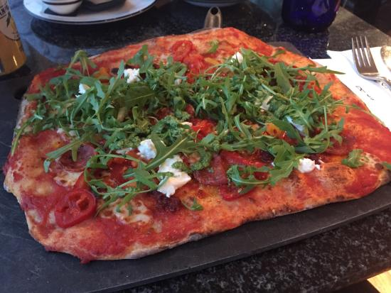 Pizza Calabrese With Nduja Hot And Spicy Sausage Rocket