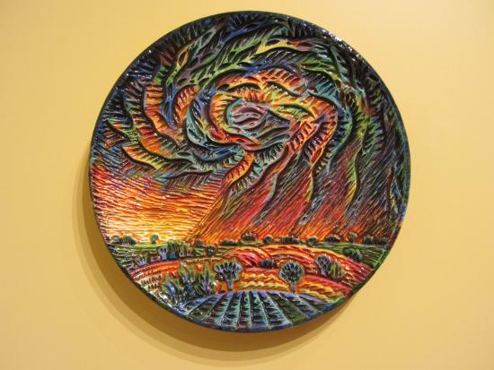 Fuller Craft Museum: Sunset plate