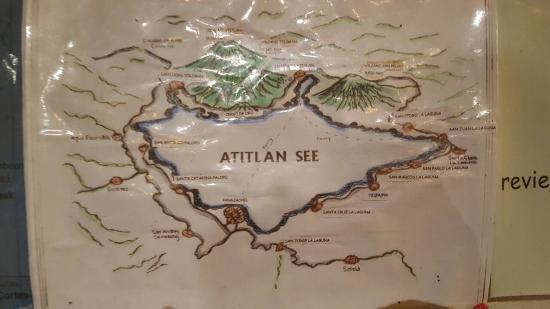 Lake Atitlan, Guatemala: mapa