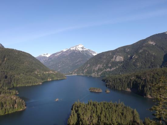 North Cascades Highway: View of Diablo Lake from the overlook