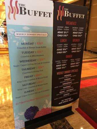 The Buffet At Golden Nugget Lake Charles Menu