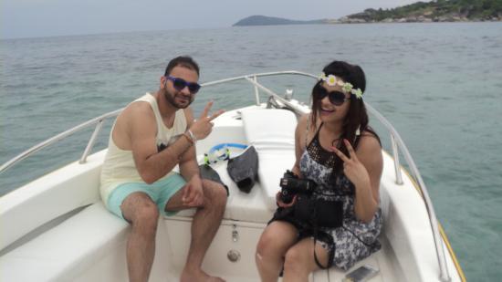 Praslin-øya, Seychellene: Our guest on trip to Coco Island.