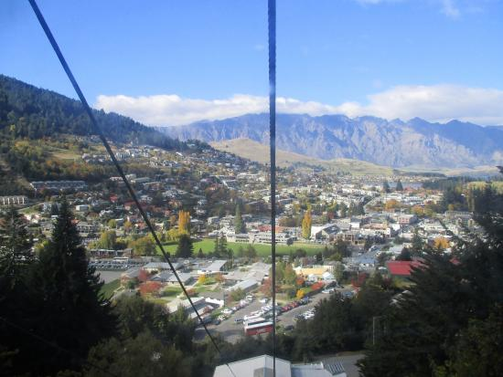 View of Queenstown from the Cable Car