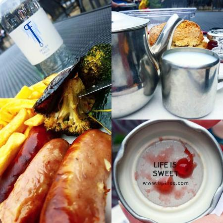 The Mulberry Tree Restaurant: Cream tea and sausage and chips