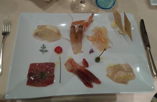 Ristorante Albertini: Antipasto di pesce crudo