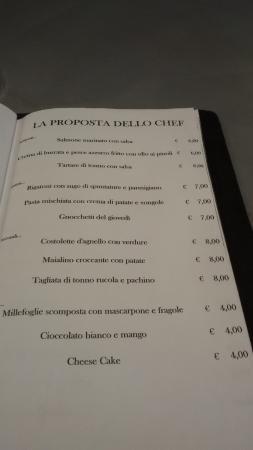 Porto d'Ascoli, Italy: Piatti proposti da Cannavacciuolo