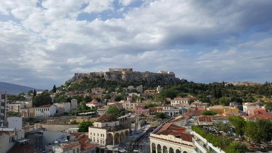 A for Athens: View from the roof top terrace / restaurant