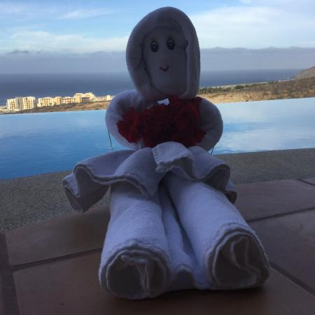 "Montecristo Estates Pueblo Bonito: This was a gift from our maids! We felt she needed some ""pool time""!"