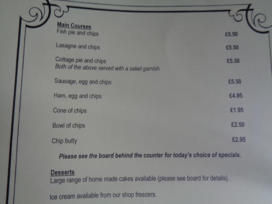 Norbury, UK: Specials Board Behind Servery Area