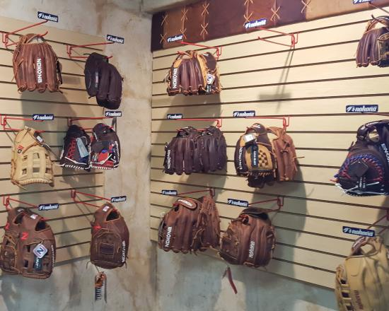 Nocona, TX: Some of the gloves available for purchase.