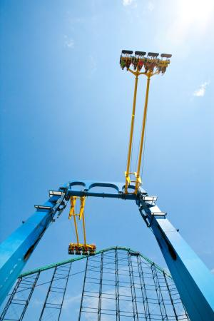 Swing Shot - powered up, powered down! - Picture of Kennywood Park on