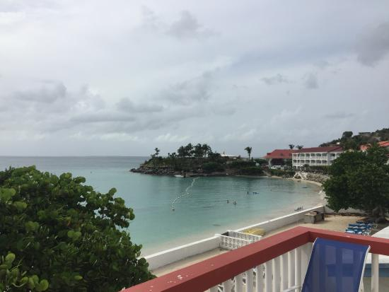 Flamboyant Beach Villas: View from the terrace of flat #7