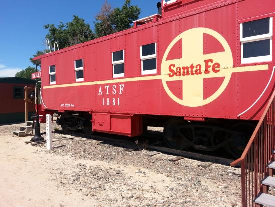 Overland Trail Museum : train car...... inside very interesting