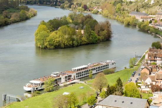 Paris 'Musts' - City Tour, River Seine Cruise and Lunch : The Viking Kadlin on the Seine at Les Andelys, France