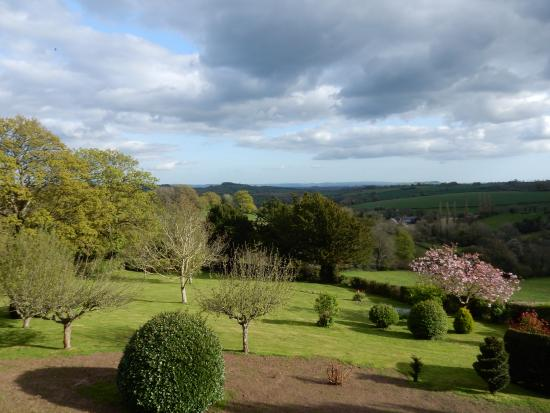 The Old Rectory: View over the garden and valley