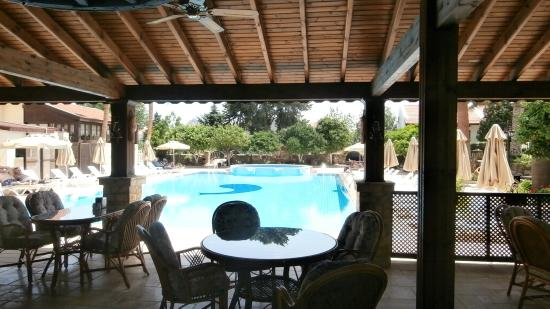 Almond Holiday Village: View from the new pagola dining area